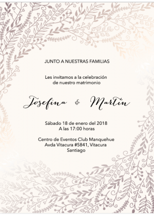 Invitation matrimonio elegante