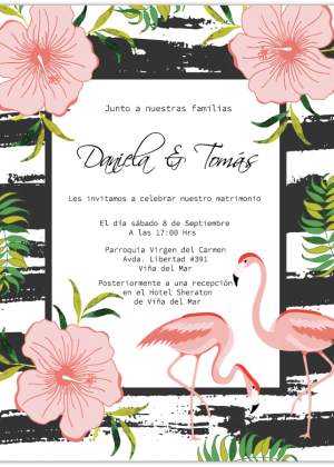 Invitación Matrimonio Tropical